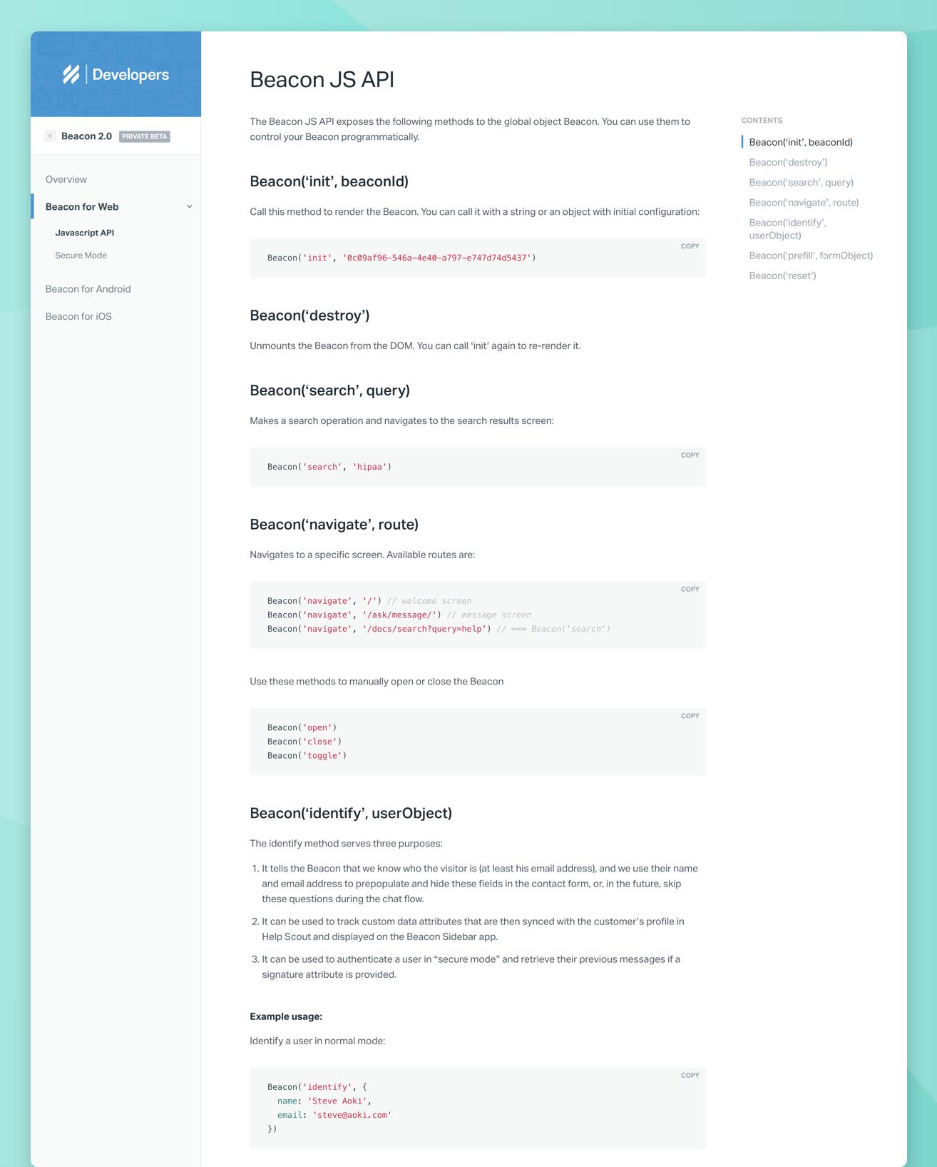 Helpscout Beacon 2.0 sketches – tony jones   product designer